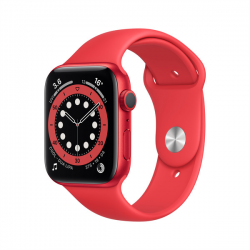 Умные часы Apple Watch Series 6 GPS 44mm Aluminum Case with Sport Band Red