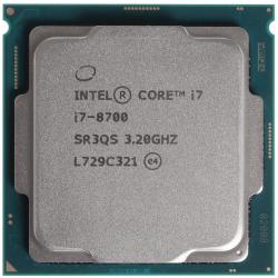 Процессор CPU INTEL CORE I7 8700 3,2GHZ